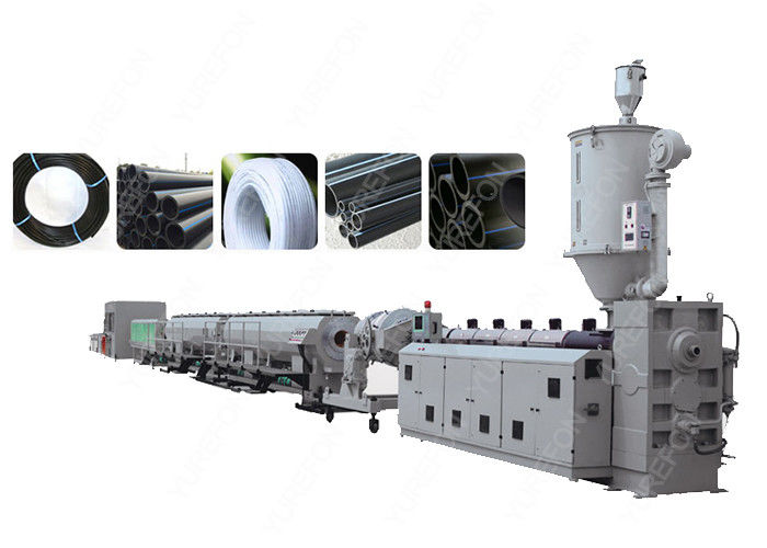 PLC Control PE PP Plastic Pipe Extrusion Line , Single Screw Extruder Machine